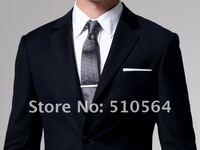 оптовая продажа бесплатная доставка продать высокое качество в шерстяной костюм на заказ мужчины бизнес темно-синий костюм