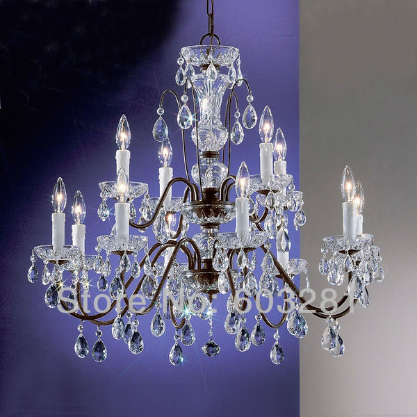 Classic Traditional Chandelier Atn2353 12 Light Pellucid Crystal Oil Rubbed Bronze Free Shipping
