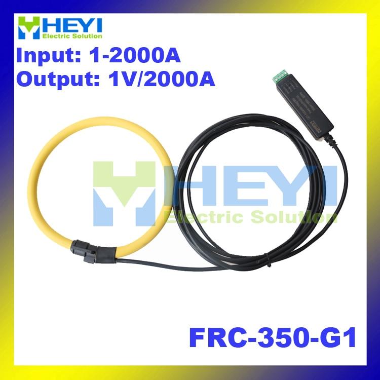 Yellow Clamp on instrument Rogowski Coil Input : 1~2000A Output : 1V flexible rogowski coil