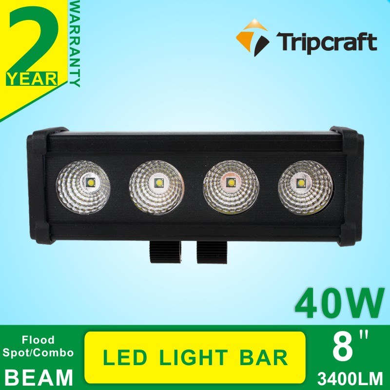8 Inch 40W Cree LED Light Bar for Off Road Indicators Work Driving Offroad Boat Car Truck 4x4 SUV ATV Fog Spot Flood 12V 24V cree red round 7inch 90w led bar 3d lens spot beam offroad led work light bar trailer car truck 4x4 atv suv auto driving lamp12v