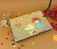 clad время ручной альбом свадьба скребок бумага альбом для фотографий ребенка / день святого валентина / рождественский подарок