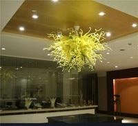 תורכי סגנון מתוכנן היטב חיסכון באנרגיה LED קריסטל זכוכית מנופחת ירוק חכם די נברשת עבור אמנות קישוט
