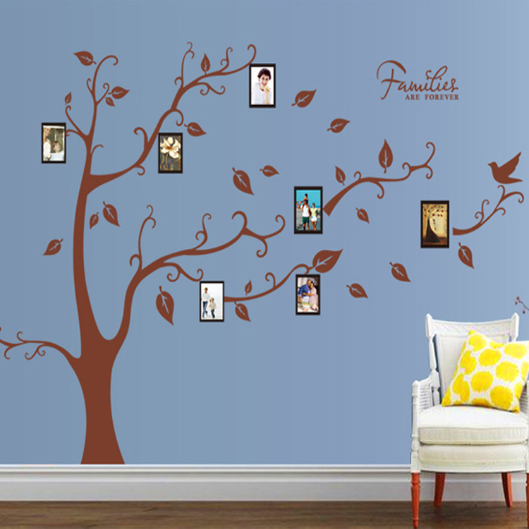 Buy memorey tree picture decor wall art for Diy family tree wall mural
