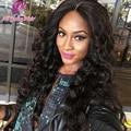 4 X 4 Silk Top Glueless Full Lace cabelo humano perucas de cabelo brasileiro virgem Base de seda onda solta peruca dianteira do laço para as mulheres negras