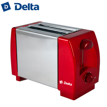 Тостер DELTA DL-96, количество тостов 2шт, мощность 750Вт, корпус из пластика и нержавеющей стали, 7-позиционный таймер, кнопка отмены, плавное регулирование степени поджаривания тостов.
