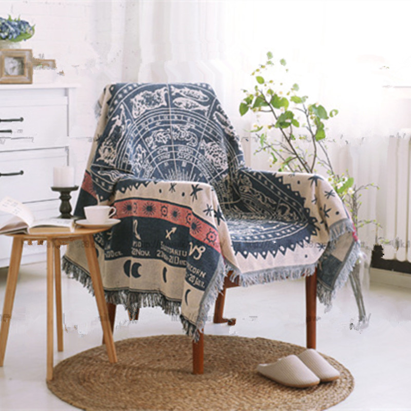 Throw Blanket Tassel Zodiac Constellations Blanket Cottonu0026polyester  Blending Sofa Chair Table Cover Portbale Europe Home Textile In Bedding  Sets From Home ...