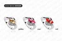 bebella кристалл кольцо обручальное ювелирные изделия с австрийскими кристаллами от Сваровски цвет размер дополнительно для женщин подарок