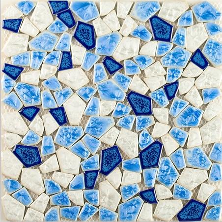 Swimming pool Blue Mediterranean free style ceramic mosaic wall tile,Kitchen backsplash/Bath shower/Fireplace art sticker,LSSP12 шлепанцы женские oakley agenda pool blue