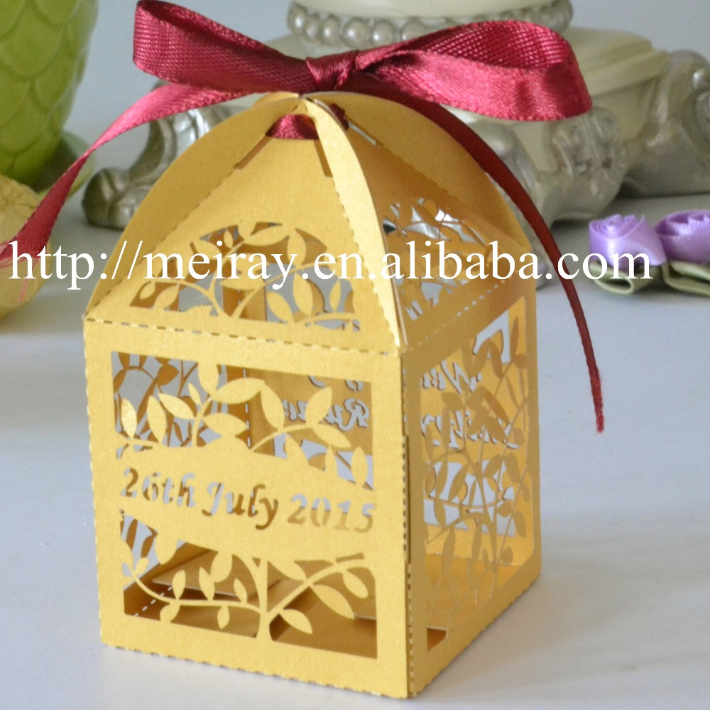 100pcs Laser Cut Kraft Paper Boxes Cookie Boxes Packaging For Gift ...
