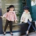 2 3 4 6 8 anos meninas inverno flecce casaco crianças marca de moda de nova roupas manto moda outerwear para meninas