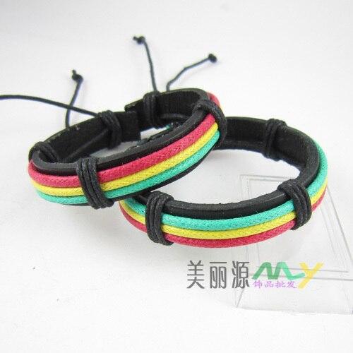 Новинка, Южная Корея, популярный ямайский стиль, регги, красный, желтый, зеленый, Панк раста, аксессуары в стиле хип-хоп,, 50 шт./партия