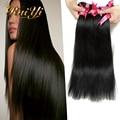 Hot Sales Brazilian Virgin Hair Straight 100% Unprocessed Brazilian Hair Weave Bundles Queen Hair Products Brazilian Body Wave