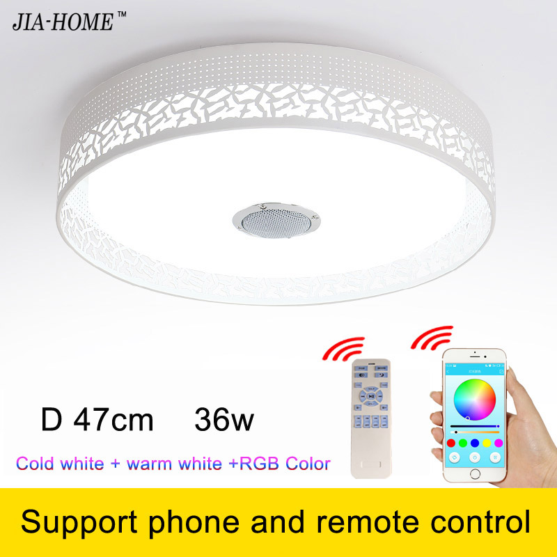 ФОТО New RGB Dimmable 36W LED ceiling Light support phone and remote control 90-260V modern Led ceiling lamp for 15 -30 Square meters