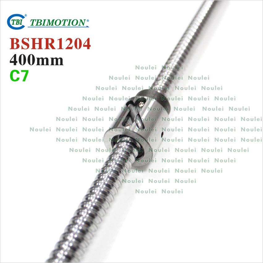 Taiwan TBI 1204 ball screw 400mm C7 12mm  with BSH1204  nut miniature CNC 3d printer parts горелка tbi sb 360 blackesg 3 м
