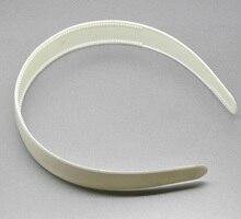 "Headband Faixa de Cabelo de plástico Branco Redondo Preto 38 cm (15 "") x 2.5 cm (1""), 12 Pcs"