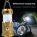 Led solar light outdoor Portable Lanterns new 1000lm 5leds 10W camping lights emergency lights lampada led solar lamp lighting