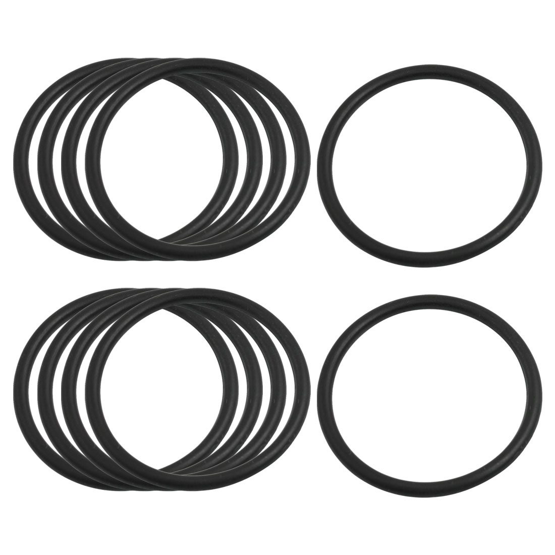 UXCELL 3.1Mm X 45Mm Black Nitrile Rubber Sealing O Ring Seal Washer Grommets 10 Pcs