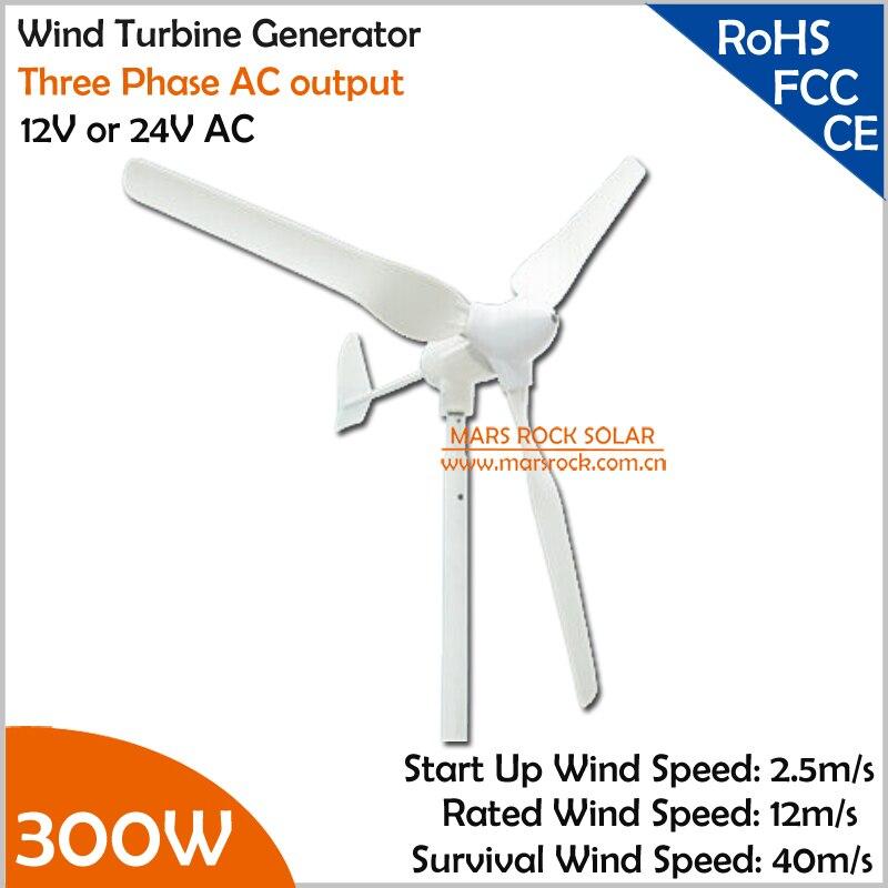 1.5 m diamètre de roue 12 V ou 24 V AC 3 lames 3 phases axe horizontal petit 300 W éolienne générateur pour maison ou toit moulin à vent