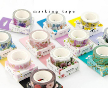 1.5cm Wide Luxuriant Flowers & Animals Washi Tape Adhesive Tape DIY Scrapbooking Sticker Label Masking Tape