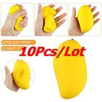 10Pcs Lot New Colossal 12CM Kawaii Cute Jumbo Squishy Yellow Mango Slow Rising Kid Toys Gift