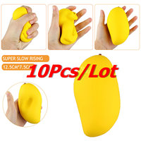 10Pcs Lot New Colossal 12CM Kawaii Cute Jumbo Squishy Yellow Mango Slow Rising Kid Toys Gift