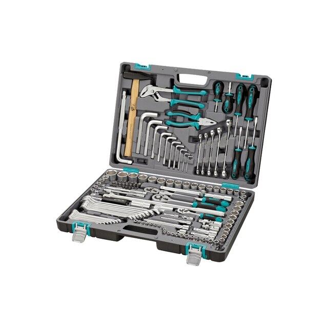 Набор инструментов STELS 14107 (142 предмета из высококачественной стали, кейс в комплекте)