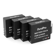 Durapro 4 Pcs SJCAM SJ4000 Battery For SJ 4000 Wifi SJ5000+ sj5000x SJ6000 SJ7000 SJ8000 sj9000 M10 Camera(China)
