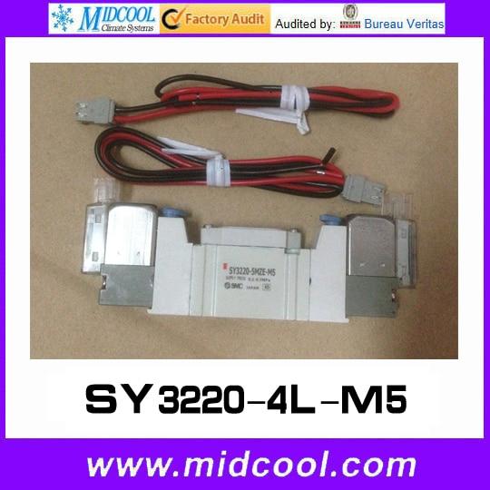 5 way pilot solenoid valve SY3220-4L-M5 5 way pilot solenoid valve sy3420 6d c8