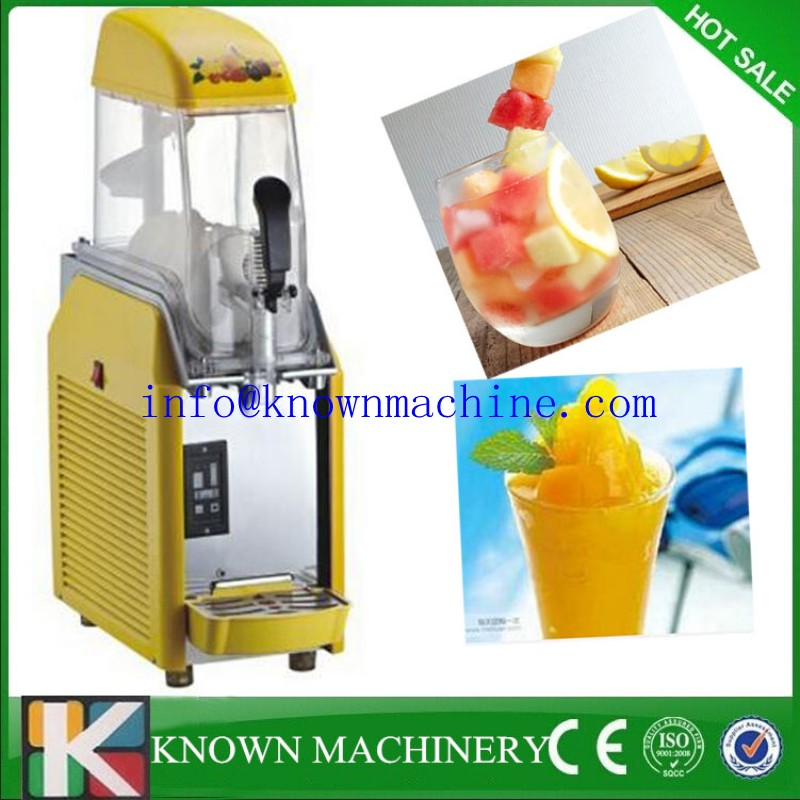 220V 2 Tank Frozen Drink Slush Slushy Making Machine Smoothie Maker Commercial