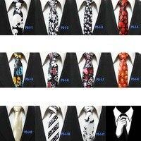 люди череп галстуки черный с белым хэллоуин подарок новый ну вечеринку связи для человека 5 см P5 с-Я-2