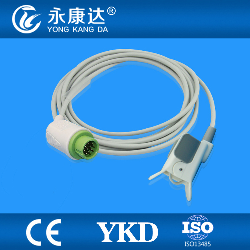 Blt pediatric finger clip spo2 sensor/Probe for medical use,12 pins connector, 3m cable mindray neonate wrap spo2 sensor length 3 meter 5pin spo2 probe medical tpu cable