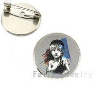 Vintage Les Miserables Ufficiale immagine spilla pins retro Les Miserables Logo spille vetro cabochon preventivo gioielli regali NS207(China)