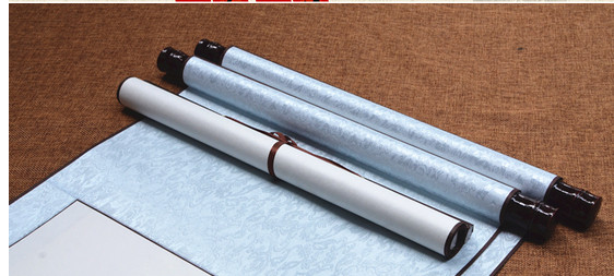Chinese paper scroll along fine vertical shaft blank four feet around calligraphy painting  calligraphy scrolls 140cm*40cm