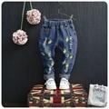 3-10yrs kids jeans broken hole boys jeans fruit printed girls jeans spring&autumn children pants fashion kids trousers