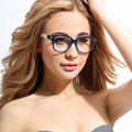 Large Frame Clear Glass TR90 Ultrathin Flat Mirror Simple  Fashion Glasses Frame For women