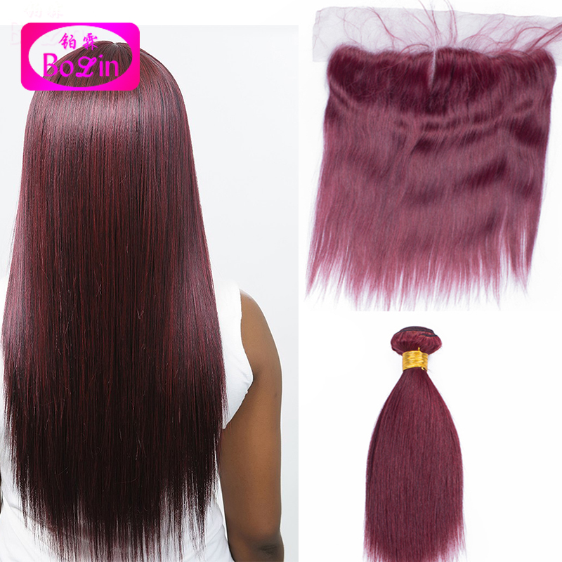 #99j straight human hair bundles with frontal malaysian virgin hair weave bundles with closure 13x4 malaysian straight 4pcs/lot