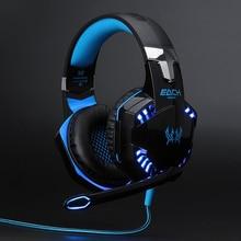 Mejor Cable De Ordenador Juego de Auriculares Gaming Headset gamer casque Over Ear Auriculares de Juegos Con Micrófono Mic led para PC