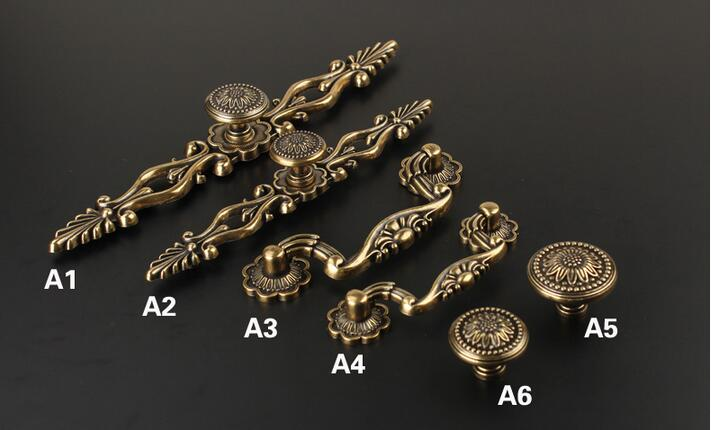 European-style Chinese furniture antique bronze cabinet door knob and Handles Classical Drawer Pulls Retro Furniture Fittings от Aliexpress INT