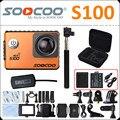 Soocoo s100 4 k wifi action camera estabilizador giroscópio 30 m mergulho à prova d' água ao ar livre mini câmera esporte dv com opcional gps de extensão