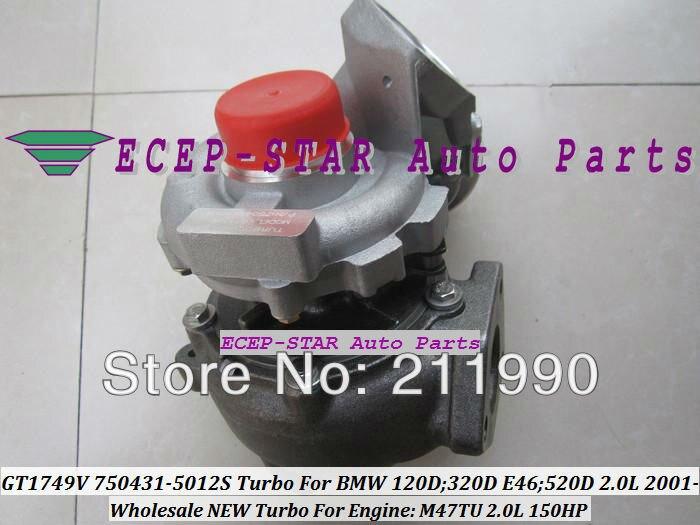 GT1749V 750431-5012S 750431-5009S 750431 Turbo Turbine Turbocharger For BMW 120D 320D E46 520D 2.0L 2001- M47TU 150HP (5)