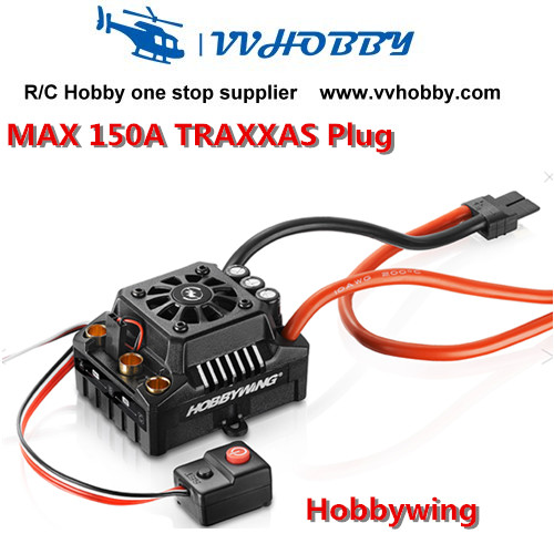 Hobbywing EZRUN Max8 150A ESC Waterproof WP Brushless Speed Controller RC 1/8 TRAXXAS plug hobbywing ezrun max8 v3 t trx plug waterproof brushless esc speed controller for 1 8 rc car traxxas summit hpi savage tiger