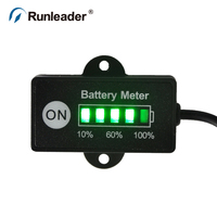12 24V Battery Indicator For Electric Bicycles Golf Carts Small Flat Car Battery Forklift Buses Electric