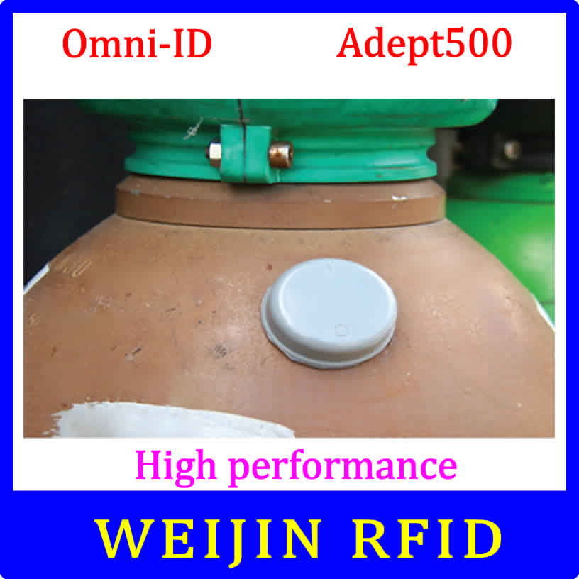 UHF RFID anti metal tag omni-ID Adept 500 915m 868m gas cylinder management Alien Higgs3 EPCC1G2 6C smart card passive RFID tags 1000pcs long range rfid plastic seal tag alien h3 used for waste bin management and gas jar management