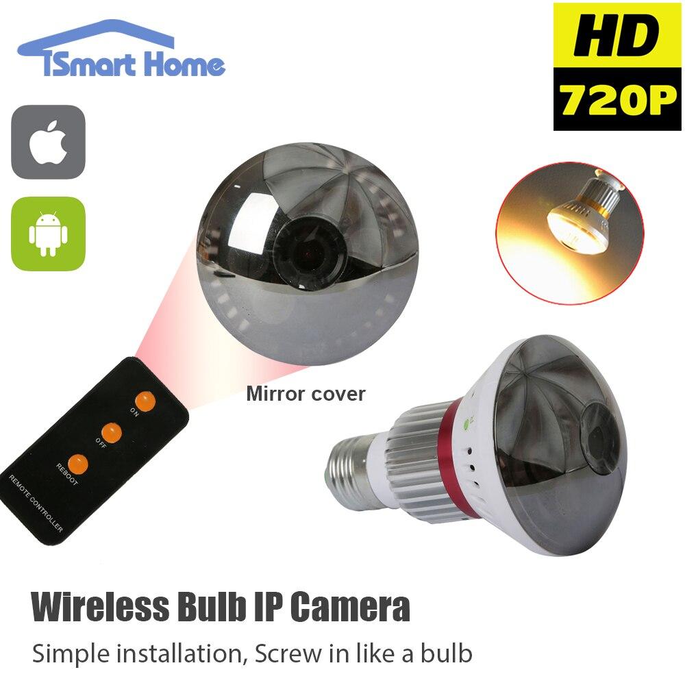 Mini E27 Bulb Lamp IP font b Camera b font Wifi Micro SD CCTV Security font