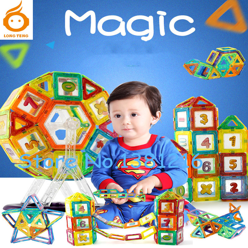 Hot Sale! Magnet Game Mini Magnetic Building Blocks Models & Building Toy Plastic Technic Bricks Kid Learning & Educational Toys magnetic toy 77pcs mini magnetic models