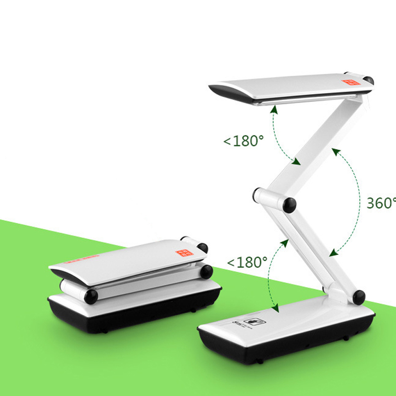 2018 New Folding Led Reading Desk Table Lamp,Adjustable Portable Bright Dimmable LED Mini Reading Book Light