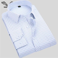 Men S Business Shirts 2016 Fashion New Brand Arrivals Plaid Long Sleeve Dress Style Slim Fit