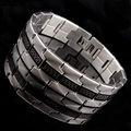 Gothic Men Stainless Steel Bracelet Retro Fashion Punk Rock Style Cool Mini Great Wall Pattern Bracelet Man Jewelry,AB1146