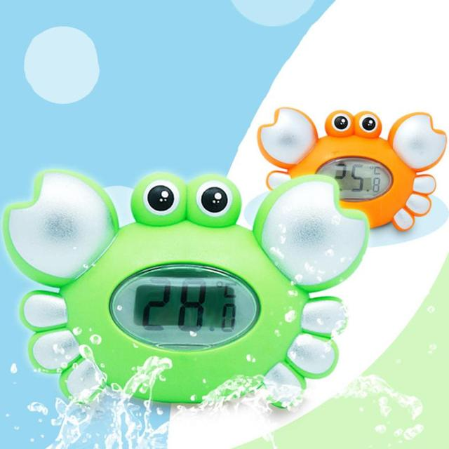 2017 New Classic Toys For Kids Children Water temperature gauge baby cartoon Animal Crab newborn bath toy electronic thermometer
