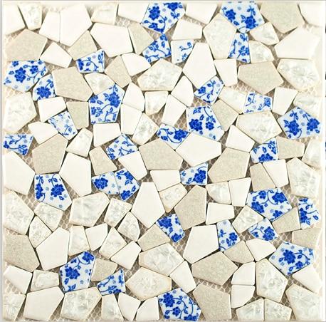 Ceramic white glazed mosaic DIY wall tile for Kitchen/Bathroom/TV/Fireplace background home art design wallpaper sticker,LSSP08